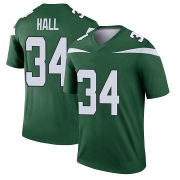 Youth Nike New York Jets Bryce Hall Gotham Green Player Jersey - Legend