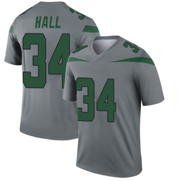 Youth Nike New York Jets Bryce Hall Gray Inverted Jersey - Legend