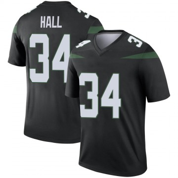 Youth Nike New York Jets Bryce Hall Stealth Black Color Rush Jersey - Legend