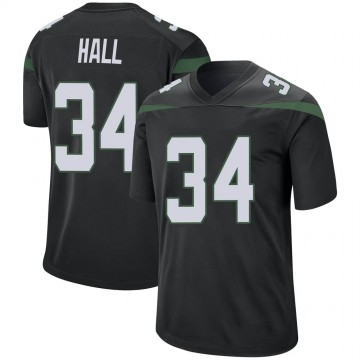 Youth Nike New York Jets Bryce Hall Stealth Black Jersey - Game