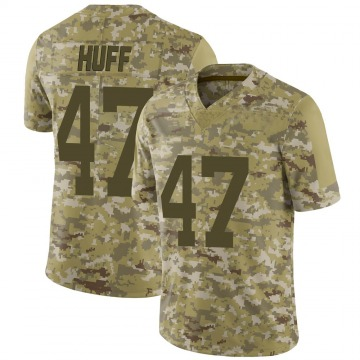 Youth Nike New York Jets Bryce Huff Camo 2018 Salute to Service Jersey - Limited