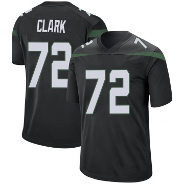 Youth Nike New York Jets Cameron Clark Stealth Black Jersey - Game
