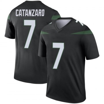 Youth Nike New York Jets Chandler Catanzaro Stealth Black Color Rush Jersey - Legend