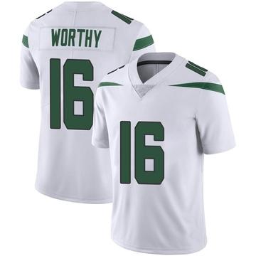 Youth Nike New York Jets Chandler Worthy Spotlight White Vapor Jersey - Limited