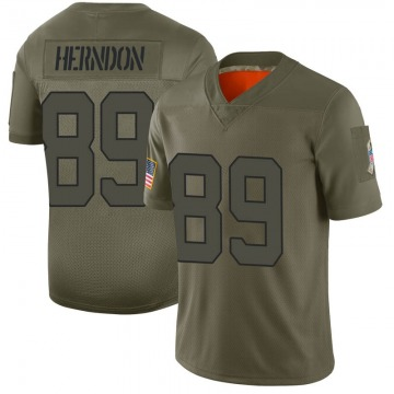 Youth Nike New York Jets Chris Herndon Camo 2019 Salute to Service Jersey - Limited