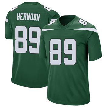 Youth Nike New York Jets Chris Herndon Gotham Green Jersey - Game