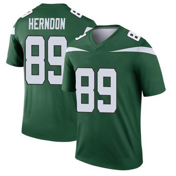 Youth Nike New York Jets Chris Herndon Gotham Green Player Jersey - Legend