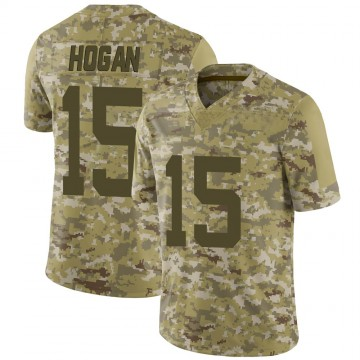 Youth New York Jets Chris Hogan Camo 2018 Salute to Service Jersey - Limited