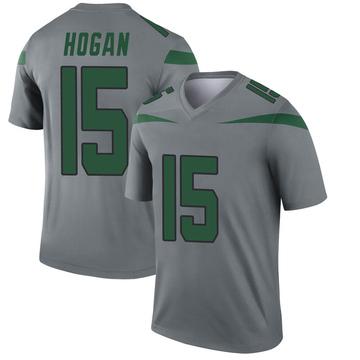 Youth Nike New York Jets Chris Hogan Gray Inverted Jersey - Legend