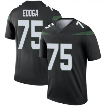 Youth Nike New York Jets Chuma Edoga Stealth Black Color Rush Jersey - Legend