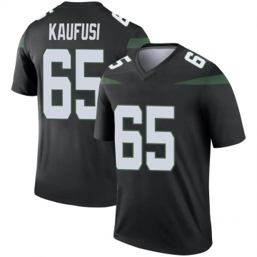 Youth Nike New York Jets Corbin Kaufusi Stealth Black Color Rush Jersey - Legend