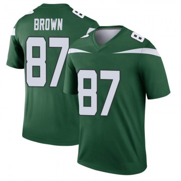 Youth Nike New York Jets Daniel Brown Gotham Green Player Jersey - Legend