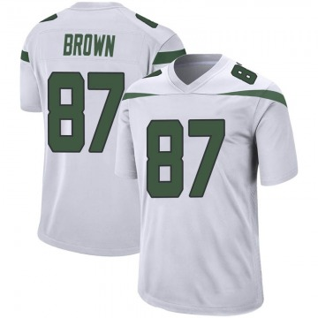Youth Nike New York Jets Daniel Brown Spotlight White Jersey - Game