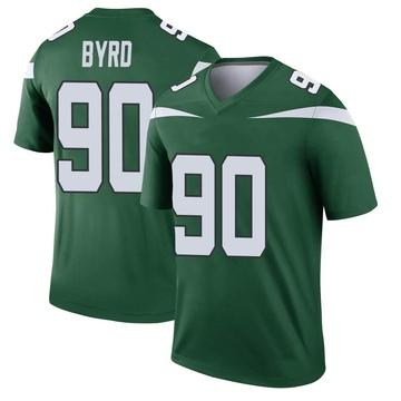 Youth Nike New York Jets Dennis Byrd Gotham Green Player Jersey - Legend