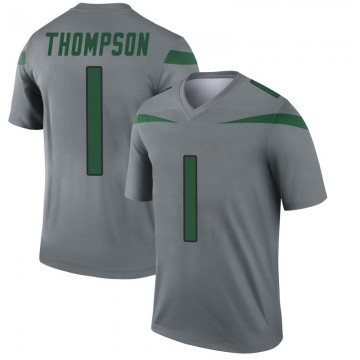 Youth Nike New York Jets Deonte Thompson Gray Inverted Jersey - Legend