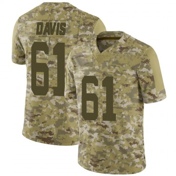 Youth Nike New York Jets Domenique Davis Camo 2018 Salute to Service Jersey - Limited