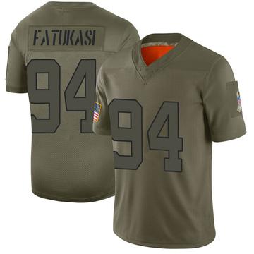 Youth Nike New York Jets Folorunso Fatukasi Camo 2019 Salute to Service Jersey - Limited