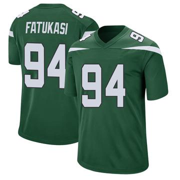 Youth Nike New York Jets Folorunso Fatukasi Gotham Green Jersey - Game