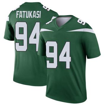 Youth Nike New York Jets Folorunso Fatukasi Gotham Green Player Jersey - Legend