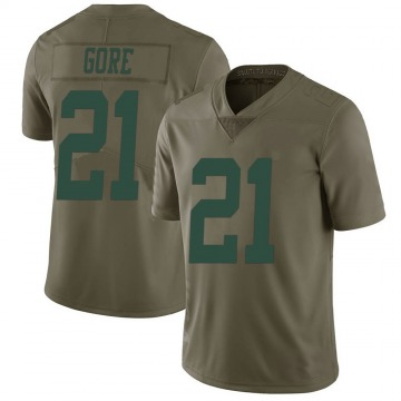 Youth Nike New York Jets Frank Gore Green 2017 Salute to Service Jersey - Limited