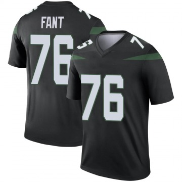Youth Nike New York Jets George Fant Stealth Black Color Rush Jersey - Legend