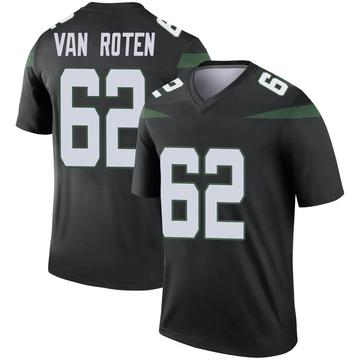 Youth Nike New York Jets Greg Van Roten Stealth Black Color Rush Jersey - Legend