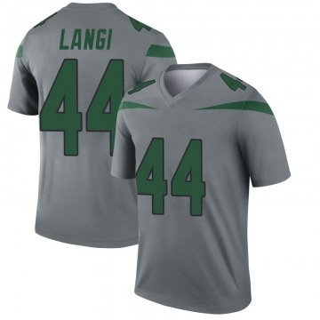 Youth Nike New York Jets Harvey Langi Gray Inverted Jersey - Legend