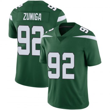 Youth Nike New York Jets Jabari Zuniga Green 100th Vapor Jersey - Limited