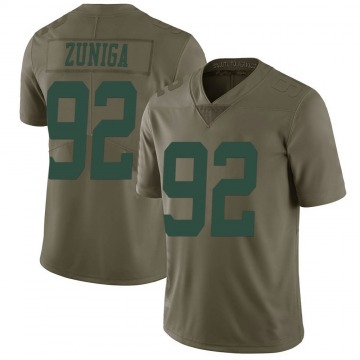 Youth Nike New York Jets Jabari Zuniga Green 2017 Salute to Service Jersey - Limited