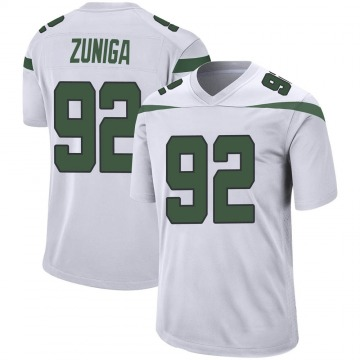 Youth Nike New York Jets Jabari Zuniga Spotlight White Jersey - Game