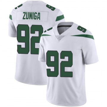 Youth Nike New York Jets Jabari Zuniga Spotlight White Vapor Jersey - Limited