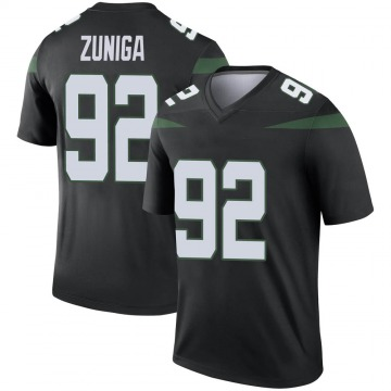 Youth Nike New York Jets Jabari Zuniga Stealth Black Color Rush Jersey - Legend