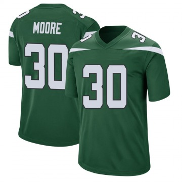 Youth Nike New York Jets Jalin Moore Gotham Green Jersey - Game