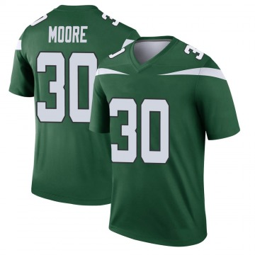 Youth Nike New York Jets Jalin Moore Gotham Green Player Jersey - Legend