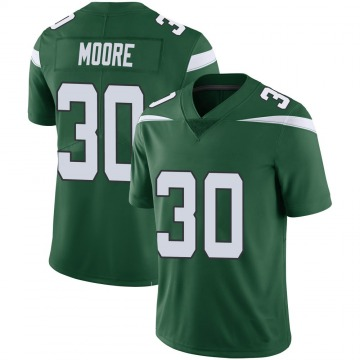 Youth Nike New York Jets Jalin Moore Green 100th Vapor Jersey - Limited