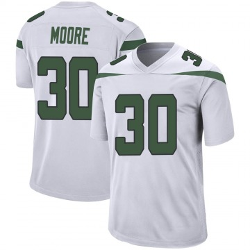 Youth Nike New York Jets Jalin Moore Spotlight White Jersey - Game