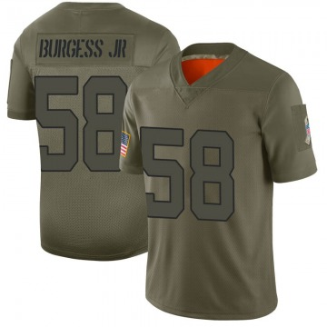 Youth Nike New York Jets James Burgess Camo 2019 Salute to Service Jersey - Limited