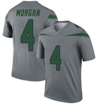 Youth Nike New York Jets James Morgan Gray Inverted Jersey - Legend