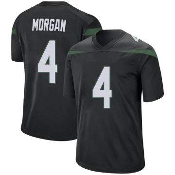 Youth Nike New York Jets James Morgan Stealth Black Jersey - Game