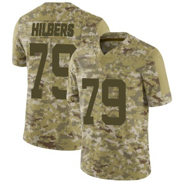 Youth Nike New York Jets Jared Hilbers Camo 2018 Salute to Service Jersey - Limited