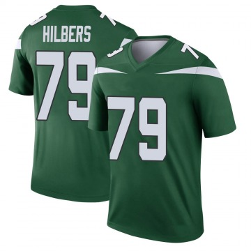 Youth Nike New York Jets Jared Hilbers Gotham Green Player Jersey - Legend