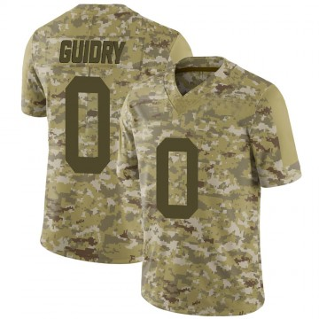 Youth Nike New York Jets Javelin Guidry Camo 2018 Salute to Service Jersey - Limited