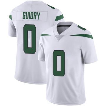 Youth Nike New York Jets Javelin Guidry Spotlight White Vapor Jersey - Limited
