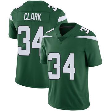 Youth Nike New York Jets Jeremy Clark Green 100th Vapor Jersey - Limited