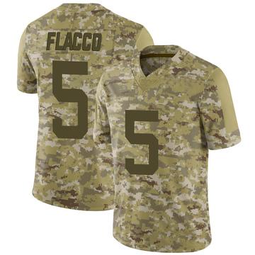 Youth Nike New York Jets Joe Flacco Camo 2018 Salute to Service Jersey - Limited