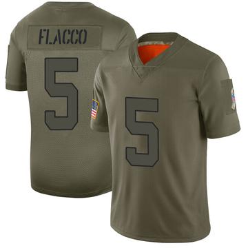Youth Nike New York Jets Joe Flacco Camo 2019 Salute to Service Jersey - Limited