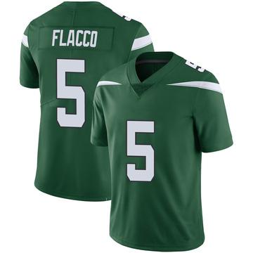 Youth Nike New York Jets Joe Flacco Green 100th Vapor Jersey - Limited