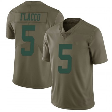 Youth Nike New York Jets Joe Flacco Green 2017 Salute to Service Jersey - Limited