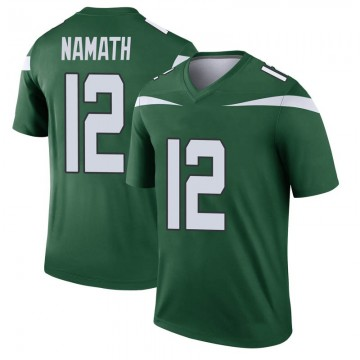 Youth Nike New York Jets Joe Namath Gotham Green Player Jersey - Legend
