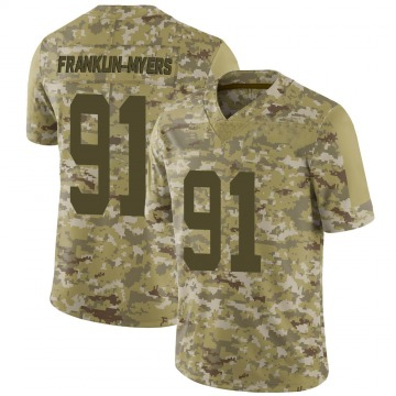 Youth Nike New York Jets John Franklin-Myers Camo 2018 Salute to Service Jersey - Limited